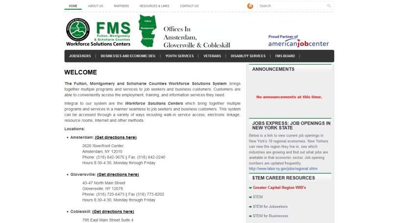 FMS Workforce Solutions Centers