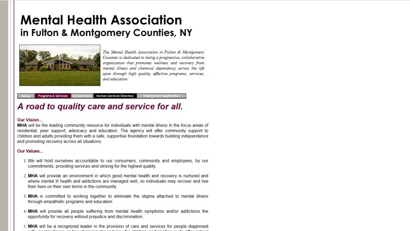 Mental Health Association of Fulton & Montgomery Counties