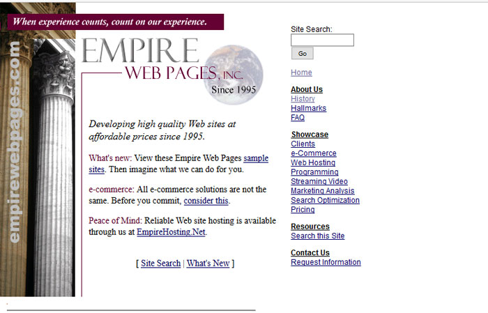 Previous Empire Web Pages Home Page
